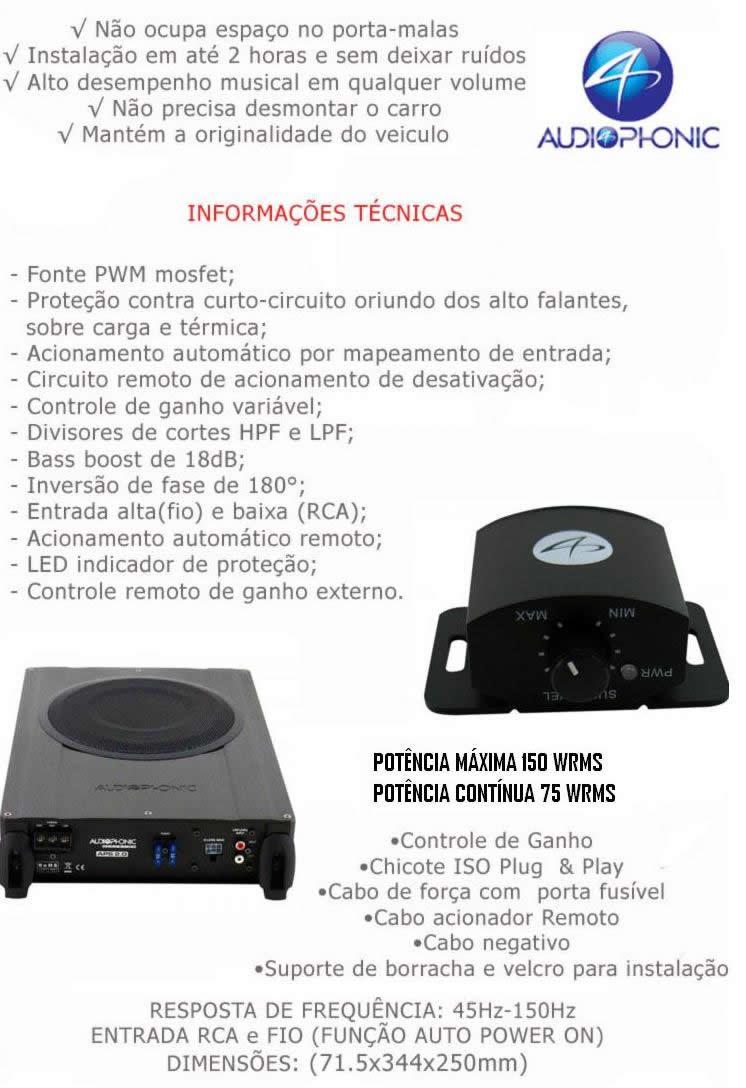 Caixa Amplificada Subwoofer AudioPhonic APS 2.1