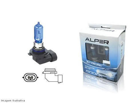 Lampadas Alper Cristal Blue Extreme 5000k H7/HB4/H4 Superbranca