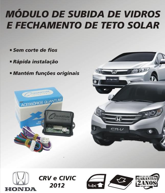 FMODULO DE SUBIDA DE VIDROS E FECHAMENTO DE TETO SOLAR HONDA NEW CIVIC E CRV 2012/2013