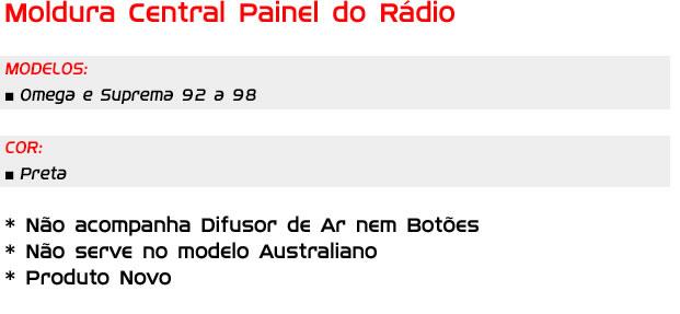 Moldura Painel Central Do Rádio Omega E Suprema
