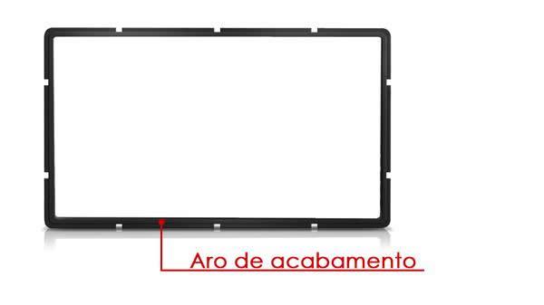 FIAT STILO MOLDURA DE ACABAMENTO DE PAINEL PARA INSTALAÇÃO DE APARELHOS DE DVD PADRÃO 2 DIN COM ARO DE ACABAMENTO