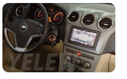 Moldura Painel DVD 2 din Chevrolet Captiva