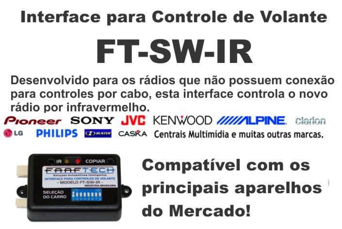 Interface Para Controle De Volante Dvd Ft-SW IR Faaf Tech