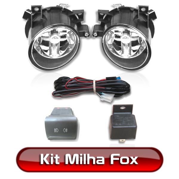 Kit Farol Milha Neblina Fox