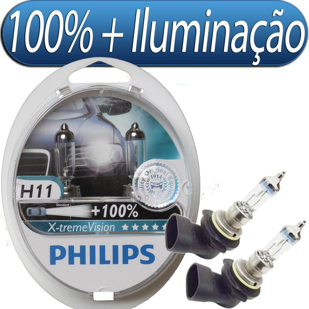 Kit de Lâmpadas X-Treme Vision Philips H11